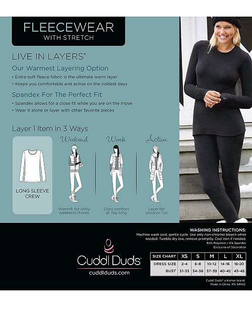 0bdb647099e855 Cuddl Duds Fleecewear Top & Reviews - Bras, Panties & Lingerie ...