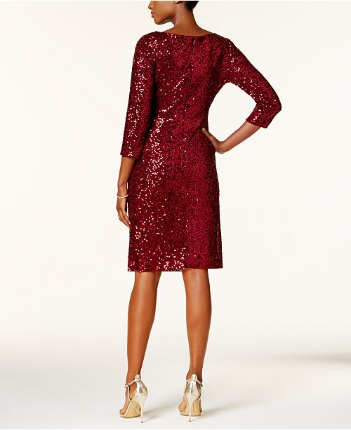 527fac783ae Jessica Howard Sequined Ruched Sheath Dress   Reviews - Dresses ...