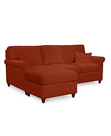 """Lidia 82"""" Fabric 2-Pc. Reversible Chaise Sectional Sofa with Storage Ottoman - Custom Colors, Created for Macy's"""