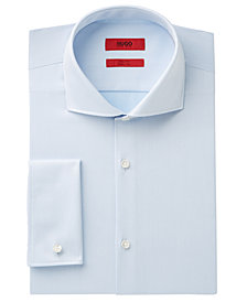 HUGO Men's Slim-Fit Blue French Cuff Dress Shirt
