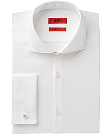 Hugo Boss Men's Slim-Fit White French Cuff Dress Shirt