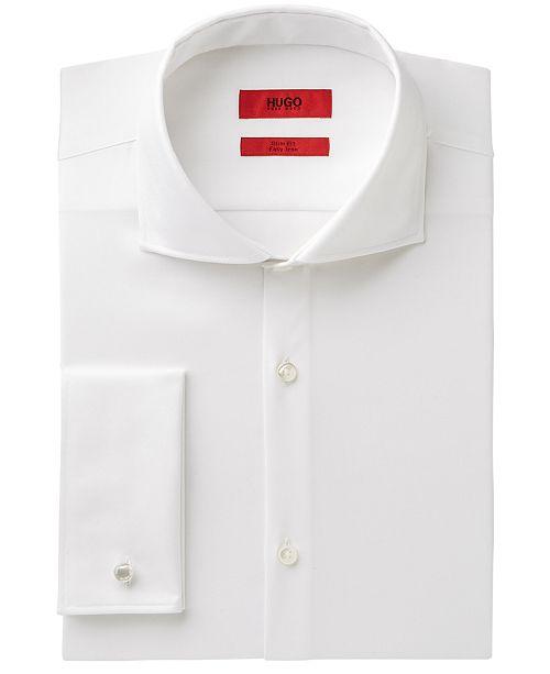 5adeccf4 Hugo Boss Men's Slim-Fit White French Cuff Dress Shirt & Reviews ...