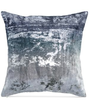 "Donna Karan Home Ocean Velvet Metallic Printed 18"" x 18"" Decorative Pillow Bedding 5010875"