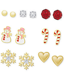 7-Pc. Set Holiday Stud Earrings Set
