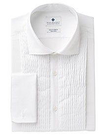 Men's Slim-Fit Stretch Non-Iron White French Cuff Tuxedo Dress Shirt, Created for Macy's