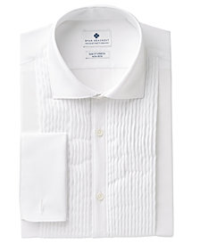 Ryan Seacrest Distinction™ Men's Slim-Fit Stretch Non-Iron White French Cuff Tuxedo Dress Shirt, Created for Macy's