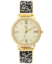 I.N.C. Women's 1/2 Bangle & 1/2 Bracelet Watch 34mm, Created for Macy's