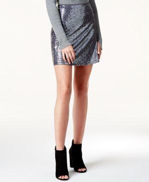 Kensie Sequined Mini Skirt thumbnail