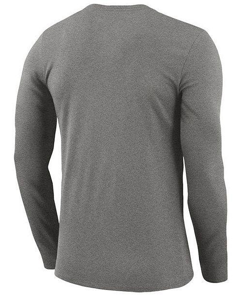 9d148351527 Nike Men s Portland Trail Blazers Dri-FIT Cotton Practice Long Sleeve T- Shirt ...