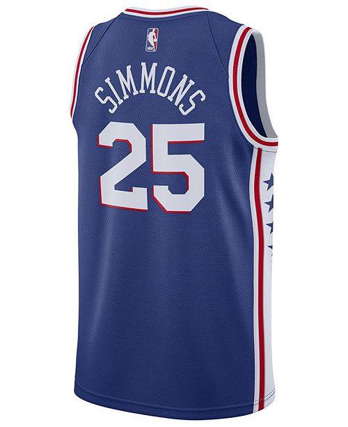 8bf93d054 ... Nike Men s Ben Simmons Philadelphia 76ers Icon Swingman Jersey ...