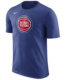 Nike Men's Detroit Pistons Dri-FIT Cotton Logo T-Shirt