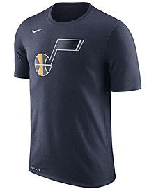 Nike Men's Utah Jazz Dri-FIT Cotton Logo T-Shirt
