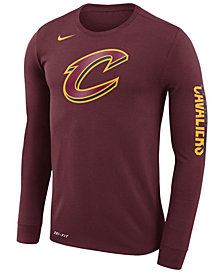 Nike Men's Cleveland Cavaliers Dri-FIT Cotton Logo Long Sleeve T-Shirt