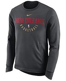 Nike Men's New Orleans Pelicans Practice Therma Crew Sweatshirt