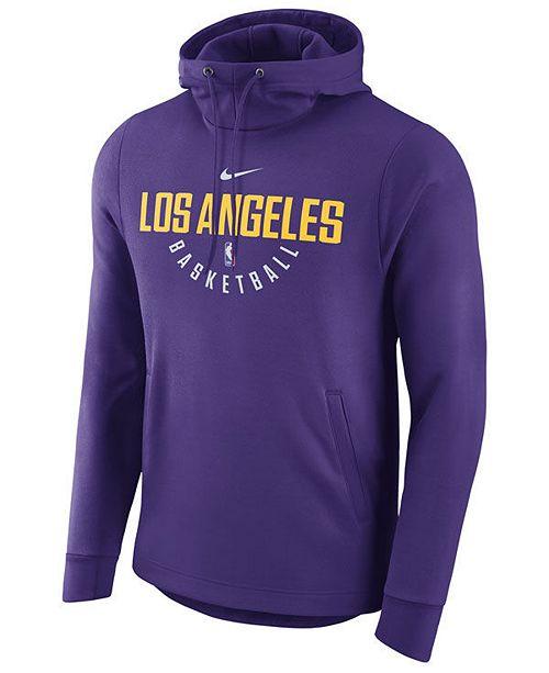 41b87250c Nike Men s Los Angeles Lakers Practice Therma Hoodie   Reviews ...