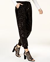 XOXO Juniors' Sequined Jogger Pants
