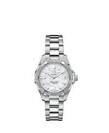 Women's Swiss Aquaracer Stainless Steel Bracelet Watch 32mm