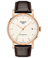 46d5c1b860fe Tissot Men s Swiss Automatic Everytime Swissmatic Dark Brown Leather Strap  Watch 40mm