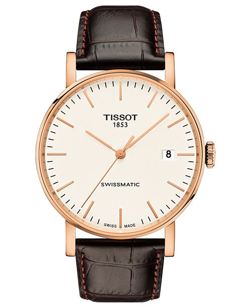 men tissot world watches automatic dial by iii s shop brown of strap white leather mens brand