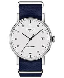 Tissot Men's Swiss Automatic Everytime Swissmatic Dark Blue NATO Fabric Strap Watch 40mm