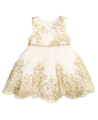 Rare Editions Embroidered Party Dress, Baby Girls (0-24 months ...