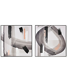 Graham & Brown Monochrome Radiance Wall Art, Set of 2