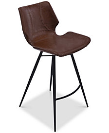 "Zurich 26"" Faux Leather Counter Stool, Quick Ship"
