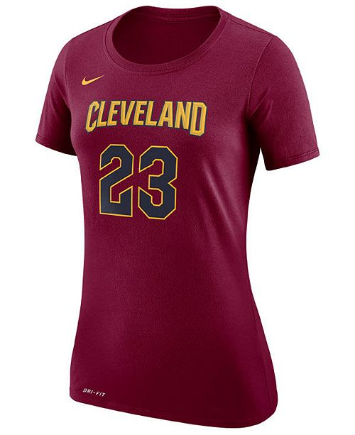 Nike Womens LeBron James Cleveland Cavaliers Name  Number Pl