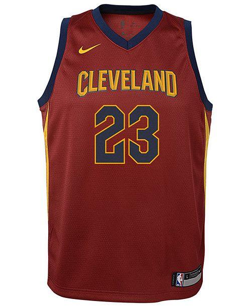 05a6c5ca265 Nike Lebron James Cleveland Cavaliers Icon Swingman Jersey, Big Boys (8-20)  ...