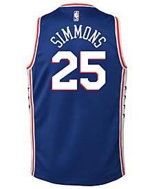 Ben Simmons Philadelphia 76ers Icon Swingman Jersey, Big Boys (8-20)