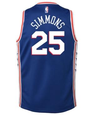 Nike Ben Simmons Philadelphia 76ers Icon Swingman Jersey, Big Boys (8-20)