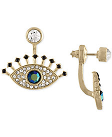 RACHEL Rachel Roy Gold-Tone Multi-Stone Eye Jacket Earrings