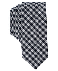 Original Penguin Men's Milo Gingham Skinny Tie