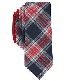 Original Penguin Men's Mallard Plaid Skinny Tie