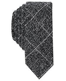 Original Penguin Men's Hugur Faded Grid Skinny Tie