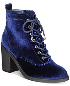 Material Girl Landrey Lace-Up Booties, Created for Macy's