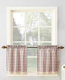 "Lichtenberg No. 918 Maisie Plaid 54"" x 24"" Rod-Pocket Kitchen Curtain Tier Pair"