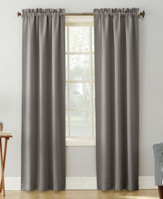 "Sun Zero Preston 40"" x 84"" Rod-Pocket Blackout Curtain Panel"