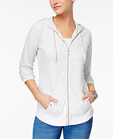 Style & Co Zip-Front Jacket, Created for Macy's