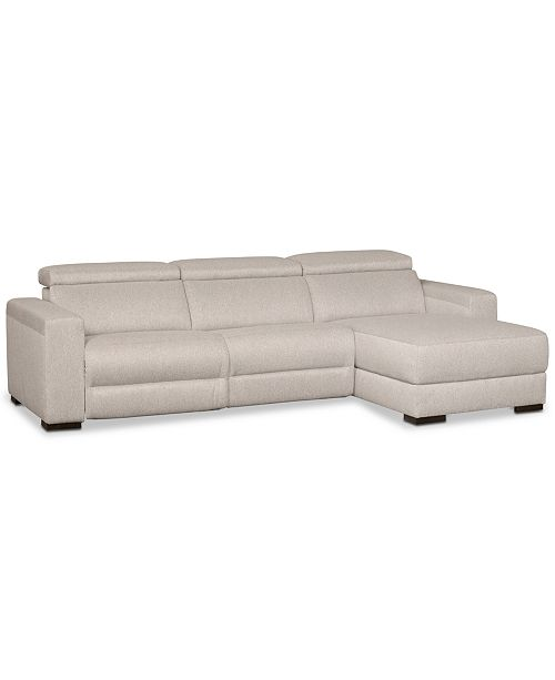 Furniture Nevio 3 Pc Fabric Sectional Sofa With Chaise 1