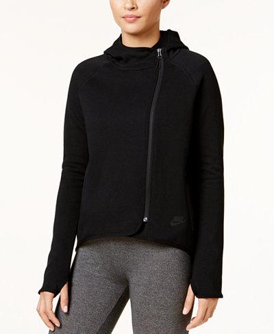 nike sportswear tech fleece cape jackets women macy 39 s. Black Bedroom Furniture Sets. Home Design Ideas
