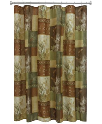 "Pinecone Silhouettes 70"" x 72"" Graphic-Print Shower Curtain"