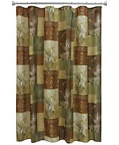 "Bacova Pinecone Silhouettes 70"" x 72"" Graphic-Print Shower Curtain"