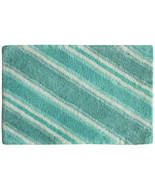 "Bacova La Mer Cotton 20"" x 30"" Tufted-Stripe Bath Rug"