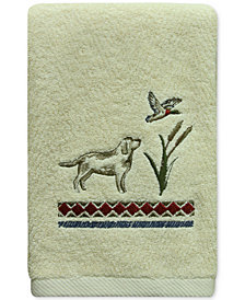 Bacova Live Love Lake Cotton Embroidered Hand Towel