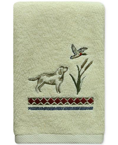 Bacova Live Love Lake Cotton Embroidered Hand Towel
