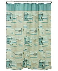 """Beach Cruiser 70"""" x 72"""" Graphic-Print Shower Curtain"""