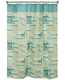 "Bacova Beach Cruiser 70"" x 72"" Graphic-Print Shower Curtain"