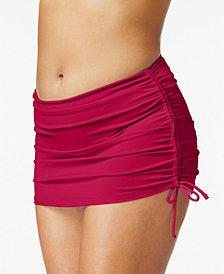 Island Escape Plus Size Side-Tie Swim Skirt, Created for Macy's