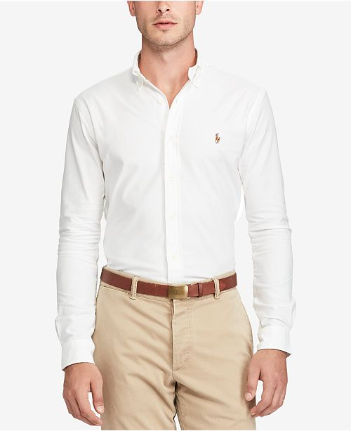 3e5f1048 Polo Ralph Lauren Slim-Fit Stretch-Oxford Shirt & Reviews - Casual ...